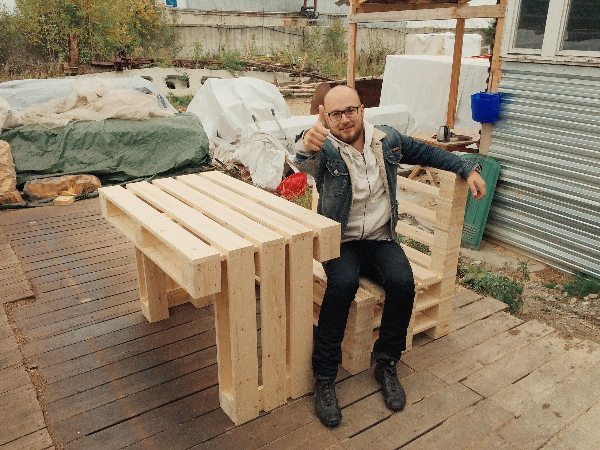Мебель из деревянных паллет своими руками 17